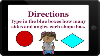 Google Classroom: 2D Shapes- Sides and Angles