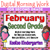 Google Classroom 2nd Grade February Morning Work