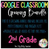 Google Classroom 2nd Grade Growing Math Bundle #christmasinjuly21