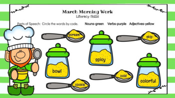 Google Classroom 2nd Grade March Morning Work