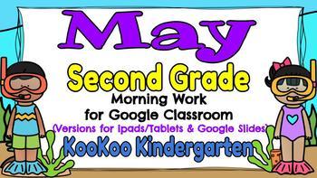 Google Classroom 2nd Grade May Morning Work
