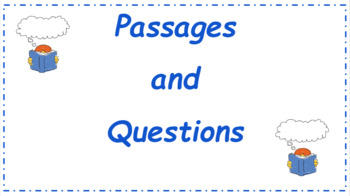 Google Classroom: 2nd Grade Passage and  Interactive Questions