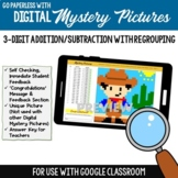 Google Classroom 3-Digit Addition & Subtraction Regrouping Mystery Picture Sheet