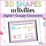 Google Classroom™ 3D Shapes Unit Digital - Distance Learning