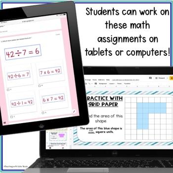 Digital Classroom 3rd Grade All Year Math Growing Bundle