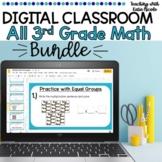 Distance Learning Digital Classroom 3rd Grade All Year Math Bundle