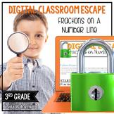 Google Classroom | 3rd Grade Math Digital Escape Room Frac