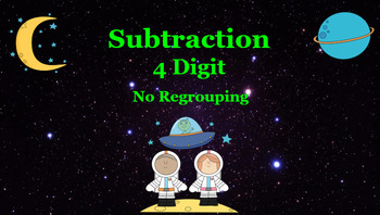 Google Classroom: 4 Digit Subtraction- No Regrouping