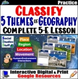 Google Classroom | 5 Themes Geography Lesson & Digital Act