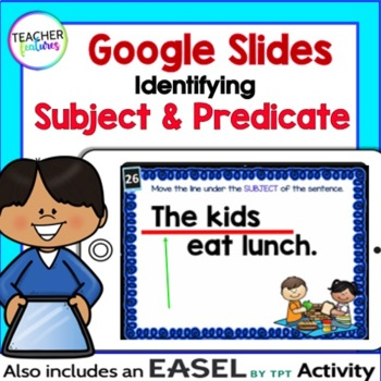 Google Classroom Activities 2nd Edition SUBJECT & PREDICATE Digital Task Cards