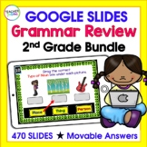 Google Classroom Bundle | 2ND GRADE GRAMMAR | Digital Task Cards Bundle