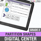 Google Classroom Activities 2nd Grade Partitioning Shapes