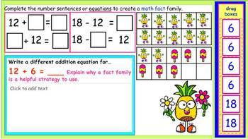 Google Classroom Activities: Adding and Subtracting Using a Fact Family