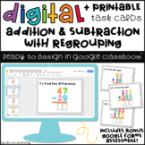 Addition & Subtraction WITH Regrouping Google Slides™ Activities
