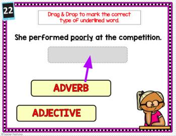 Google Classroom Activities ADVERB & ADJECTIVES 2nd & 3rd Grade