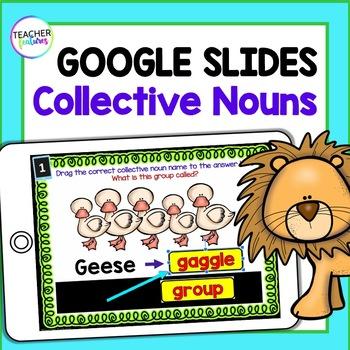 Google Classroom Activities COLLECTIVE NOUNS Digital Task Cards
