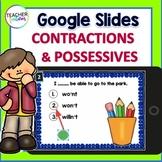 Google Classroom Activities CONTRACTIONS & POSSESSIVES 2nd Grade