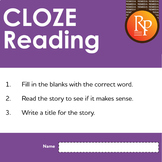 Google Classroom™ Activities: Cloze Reading