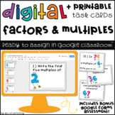 Google Classroom™ Activities: Factors & Multiples Digital Task Cards