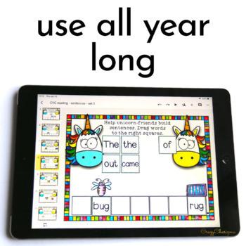 Digital Word Work Sight Word Games for Kindergarten Phonics Centers 1st Grade