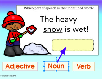 Google Classroom Activities PARTS OF SPEECH FOR WINTER 2nd & 3rd Grade
