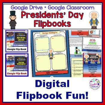 Google Classroom Activities PRESIDENTS' DAY George Washington & Abraham Lincoln