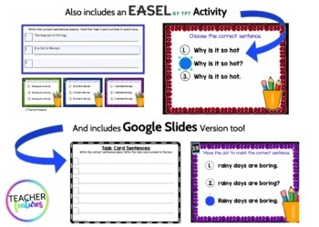 Google Classroom First Grade PROOFREADING SENTENCES 2nd Edition