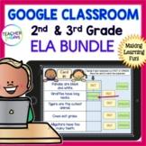 Google Slides GRAMMAR, SPELLING & ELA Review for 2nd Grade & 3rd Grade BUNDLE