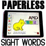 Google Classroom™ Activities - Sight Words Activities for Kindergarten (cats)