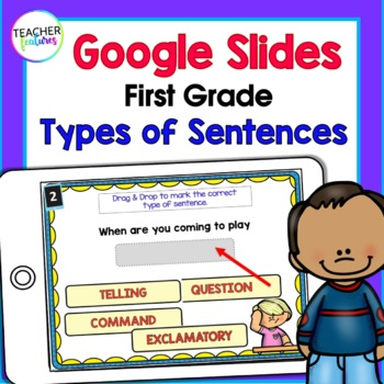 Google Classroom Activities Types of Sentences for 1st and 2nd Grade