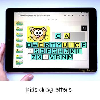 Google Classroom Activities | Word Builder | CVC and CVCe words