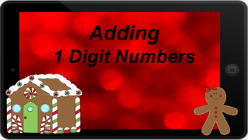 Google Classroom- Adding 1 Digit Numbers- Christmas