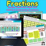 Digital Adding and Subtracting Fractions Google Slides