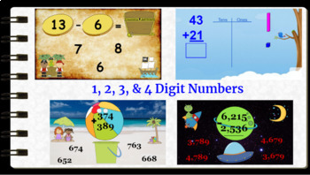Google Classroom Addition and Subtraction Interactive Activities (Bundle)