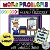 Google Classroom Addition and Subtraction Word Problems  Distance Learning