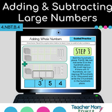 Google Classroom Addition and Subtraction of Large Whole Numbers