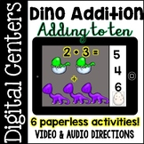 Digital Centers Addition to Ten (For Google Classroom / One Drive)