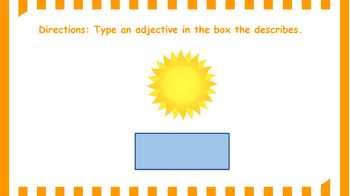 Google Classroom: Adjectives Activity