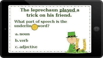 Google Classroom: Adjectives, Nouns, and Verbs- St. Patrick's Day