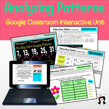 Digital Analyzing & Completing Patterns Google Slides
