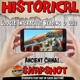 Google Classroom Ancient China Snapshot Interactive Reading Activities and Quiz