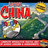 Google Classroom Ancient China Activities & Complete Unit Lesson Plan 5-8