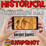 Google Classroom Ancient Egypt Snapshot Interactive Reading Activity and QUIZ