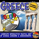 Google Classroom Ancient Greece Unit Plan Lesson & Activity Bundle Grades 5-8