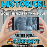 Google Classroom Ancient India Snapshot Interactive Reading Activities & Quiz