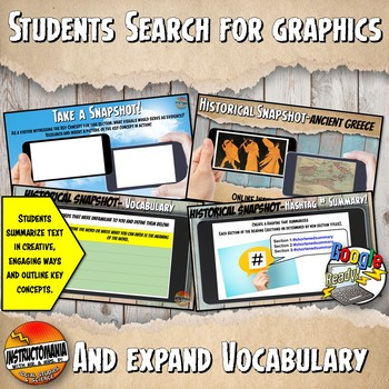 Google Classroom Ancient India Snapshot Interactive Reading Activities & Quiz