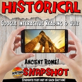 Google Classroom Ancient Rome Snapshot Interactive Reading Activities and Quiz