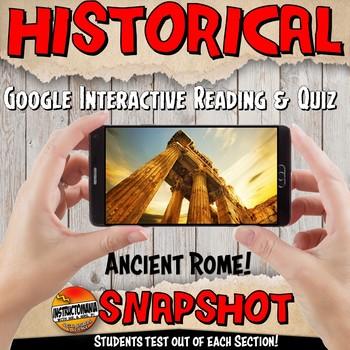 Google Classroom Ancient Rome Snapshot Interactive Reading Activities and Quiz