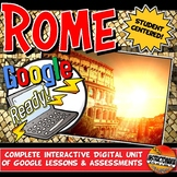 Google Classroom Ancient Rome Activities & Complete Unit Lesson Plan 5-8