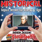Google Classroom Andrew Jackson Historical Snapshot Intera